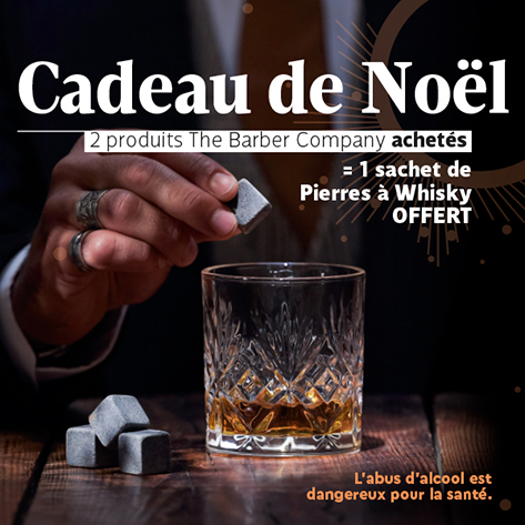 Cadeau de Noël - pierres à whisky - the barber company